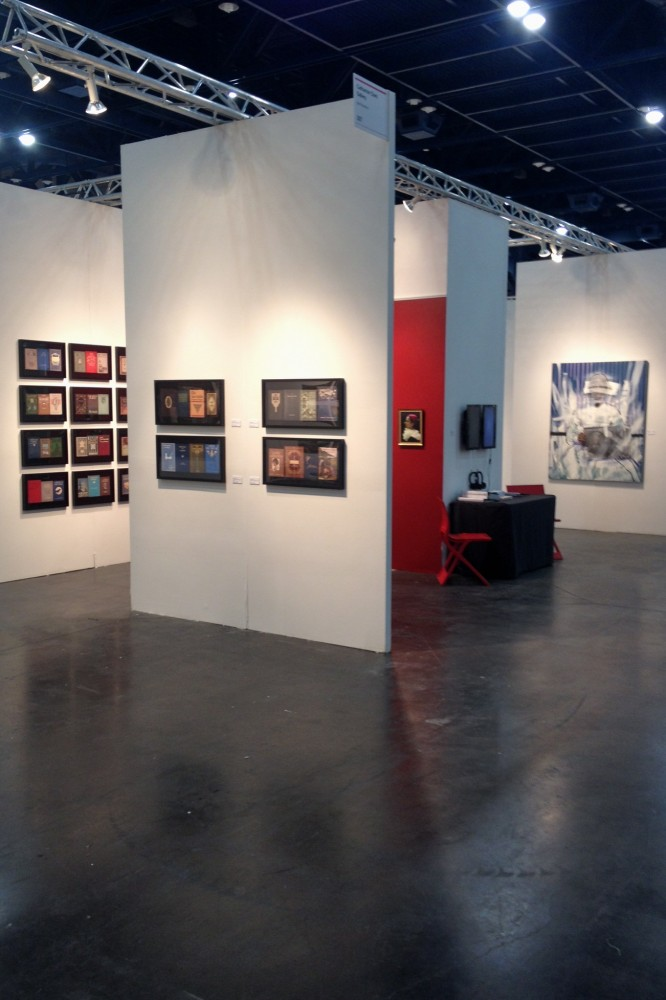 Booth #307 at Texas Contemporary ready for opening night!
