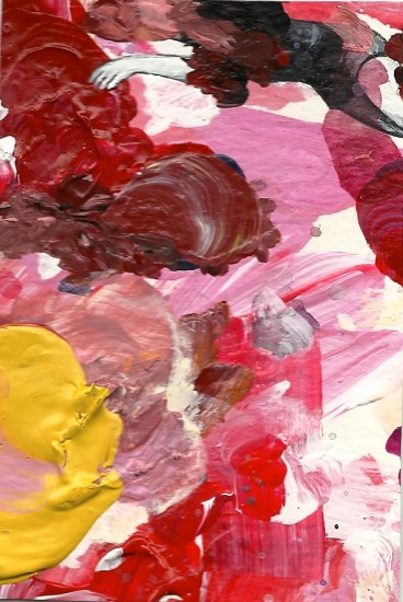 Maria: Palette Painting 144: acrylic on paper: 2010