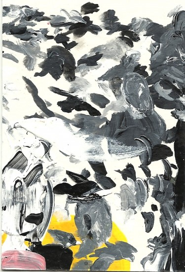 Maria: Palette Painting 77: acrylic on paper: 2010
