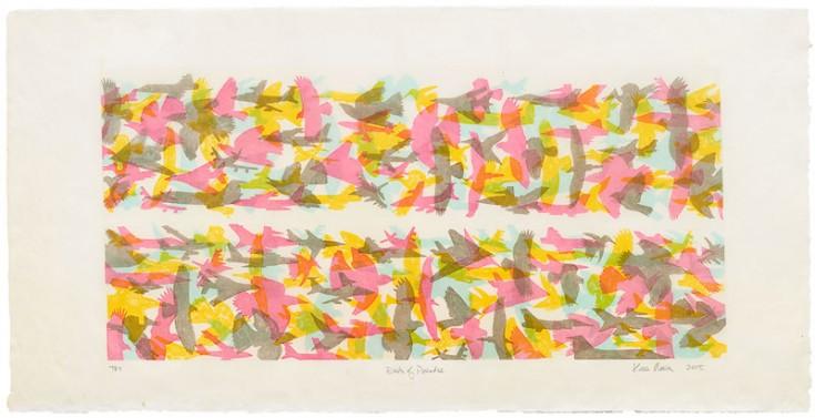 Maria: Birds of Paradise: direct gravure etching on Fukutora: 2005