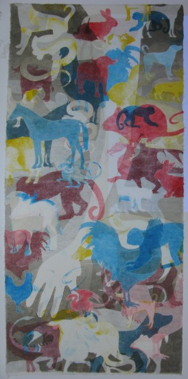 Maria: The Animal: Monoprint on Kozo: 2010